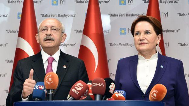 Kılıçdaroğlu ve Akşener, Ankara'da basın açıklaması yaptı.