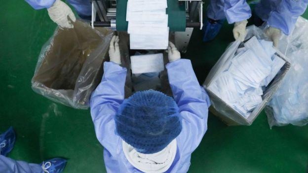 中国一家口罩工厂