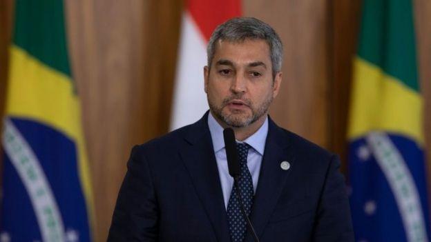 Mario Abdo Benítez discursa