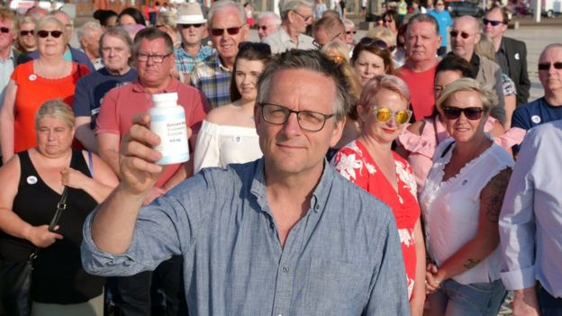 Michael Mosley with some of the participants in the BBC experiment.