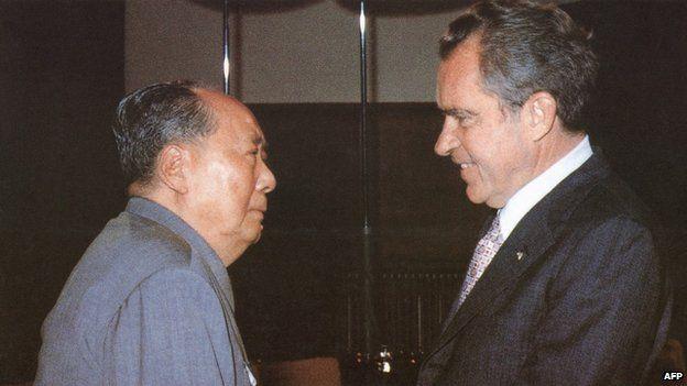 Chairman Mao and President Nixon in 1972