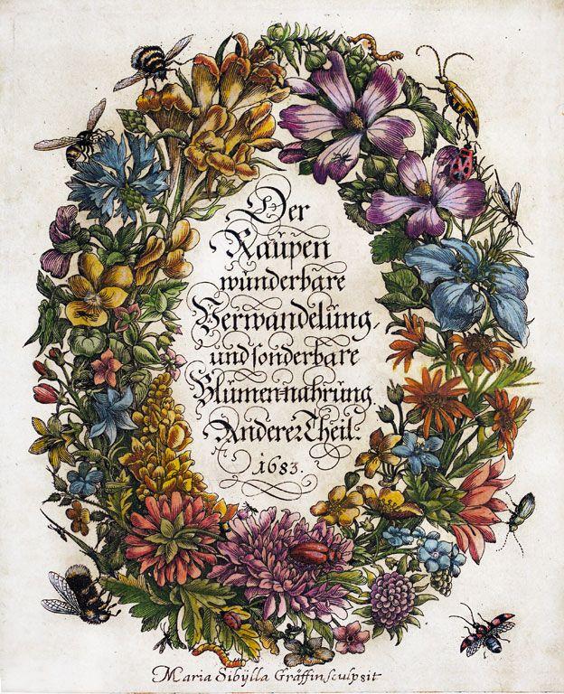 """El hermosamente decorado frontispicio de """"La metamorfosis"""" de 1863."""