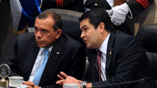 Porfirio Lobo y Juan Orlando Hernández