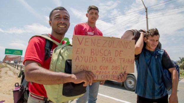 Venezolanos en busca de Trabajo en Perú.