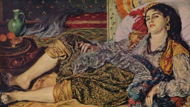 Odalisque', 1870 par Pierre-Auguste Renoir