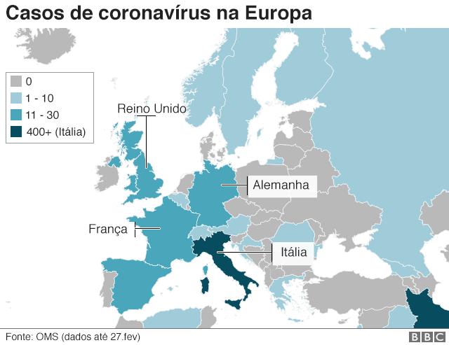 Mapa do coronavirus na itália