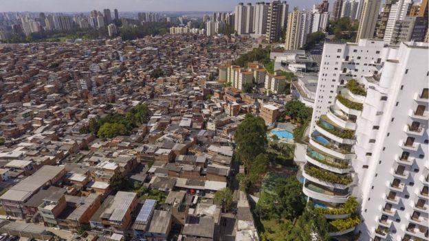 Favela de Paraisópolis, em São Paulo