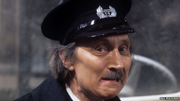 """Stephen Lewis as """"Blakey"""" in On the Buses"""