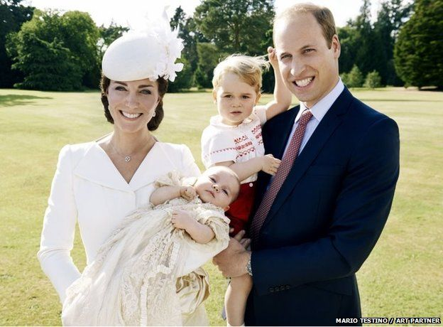 Official images to mark the christening of Princess Charlotte have been released by Kensington Palace