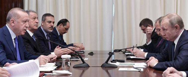 Berlin zirvesi sırasında, Türkiye Cumhurbaşkanı Recep Tayyip Erdoğan ve Rusya Devlet Başkanı Vladimir Putin ikili bir görüşme gerçekleştirdi. Bu görüşmede Suriye'nin İdlib vilayetinde yaşanan gelişmelerin de ele alındığı açıklandı.