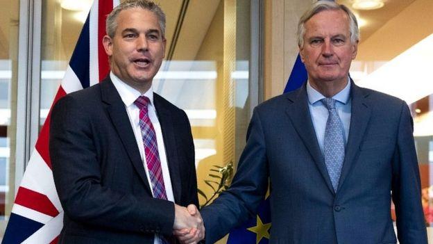 Steve Barclay and Michel Barnier
