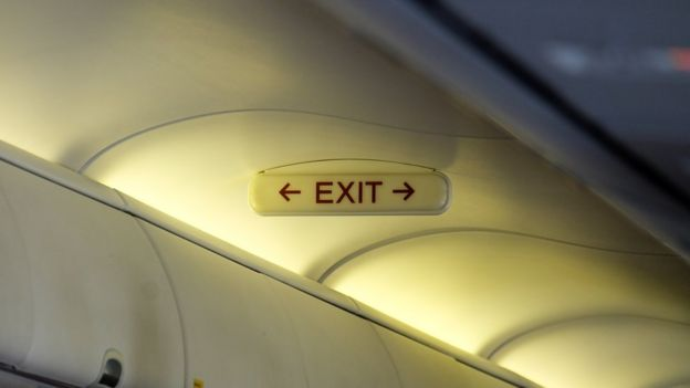 salida avión