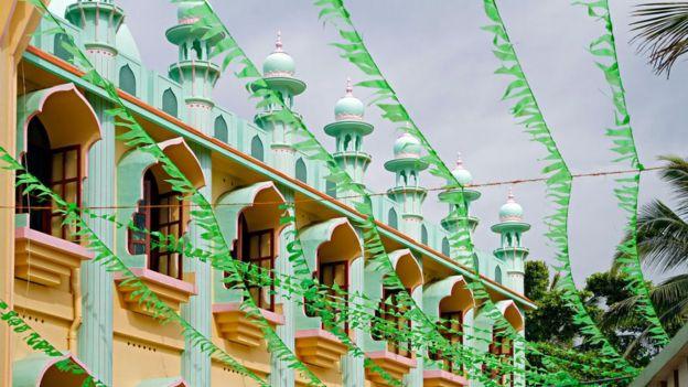 দক্ষিণ ভারতের কেরালায় একটি মসজিদ