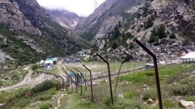 कालापानी क्षेत्रमा रहेका भारतीय सैन्य शिविर