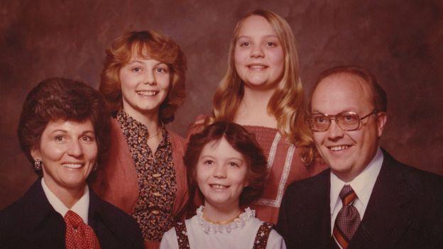 La familia Broberg family en 1977
