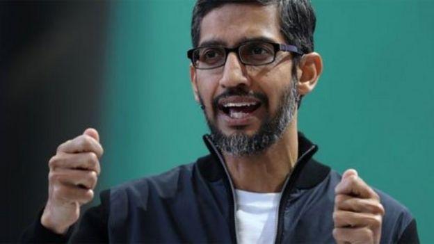 Director ejecutivo de Google, Sundar Pichai