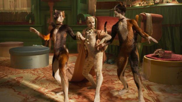 Naoimh Morgan, Francesca Hayward and Danny Collins in Cats