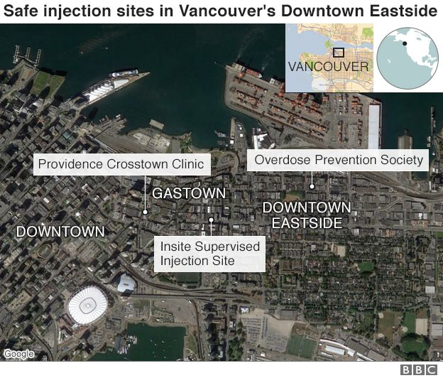 Map of Vancouver's Downtown Eastside