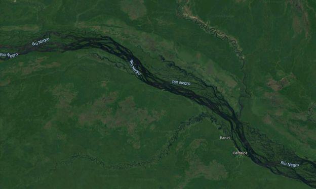 Imagem de satélite do rio Negro