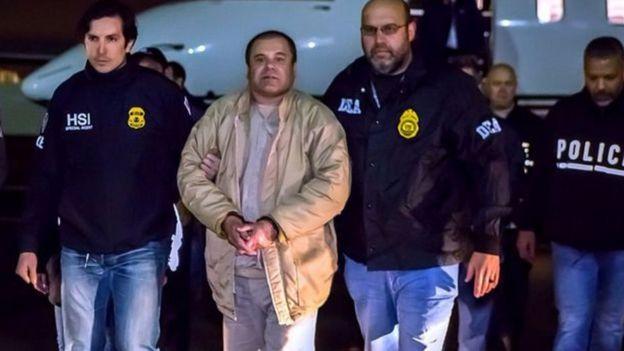 El Chapo sendo preso
