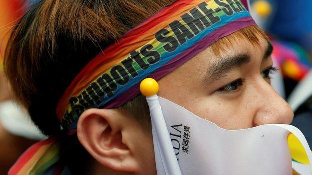 台湾社会高度关注这起释宪案,下午四点释宪判决宣布,反应热烈。