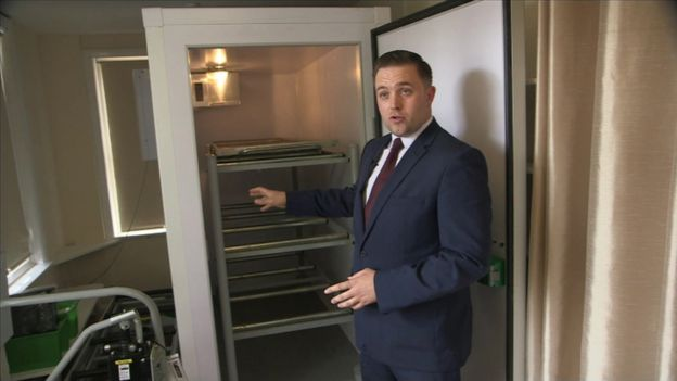 Funeral director Ashley McDonald said the obese fridge would let him look after the deceased with respect