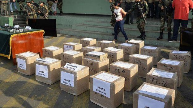 Apreensão de carga de cocaína no Peru