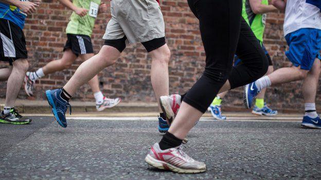 Runners at Shrewsbury Half Marathon