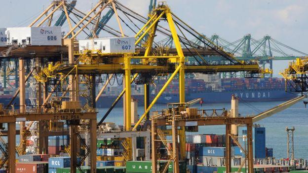 Exportações em Cingapura