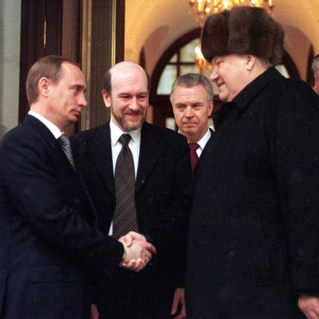 Putin y Yeltsin.