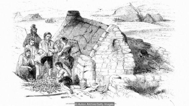 Una enfermedad de la papa provocó una hambruna que redujo a la mitad la población de Irlanda en pocos años.