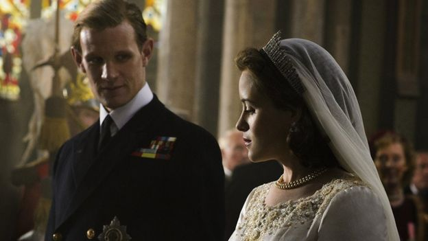 "Una escena de la serie ""The Crown""."