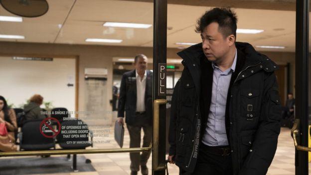 刘晓棕出席孟晚舟的保释聆讯。