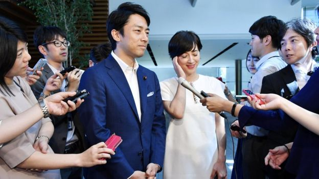 Shinjiro Koizumi, a Japanese lawmaker and son of former prime minister Junichiro Koizumi, announces his marriage to television presenter Christel Takigawa