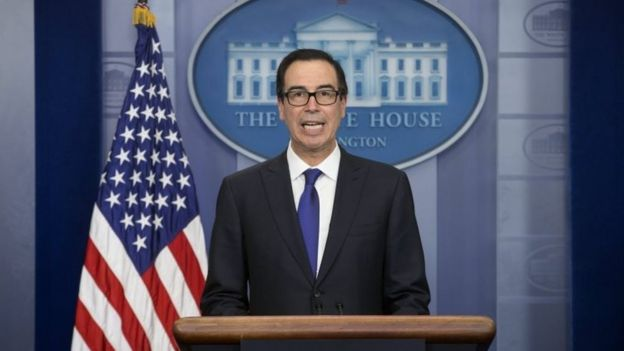 Steven Mnuchin en la Casa Blanca