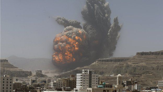 Air strike hits weapons depot in Sanaa