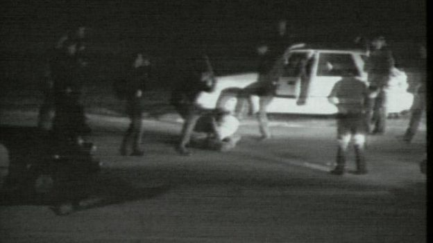 Video footage of the beating of Rodney King