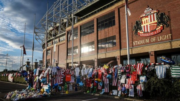 Bradley Lowery tributes outside the Stadium of Light
