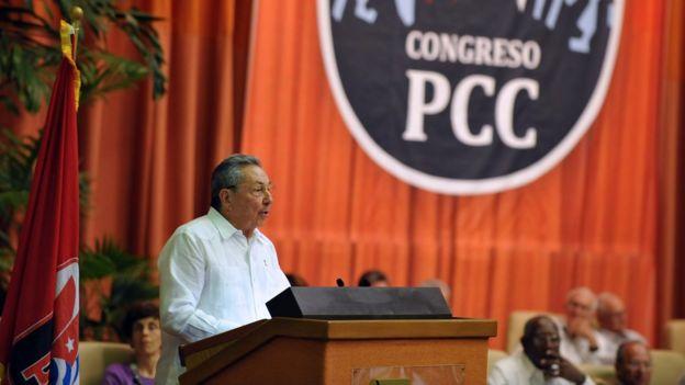 Raúl Castro en el Congreso del PCC.