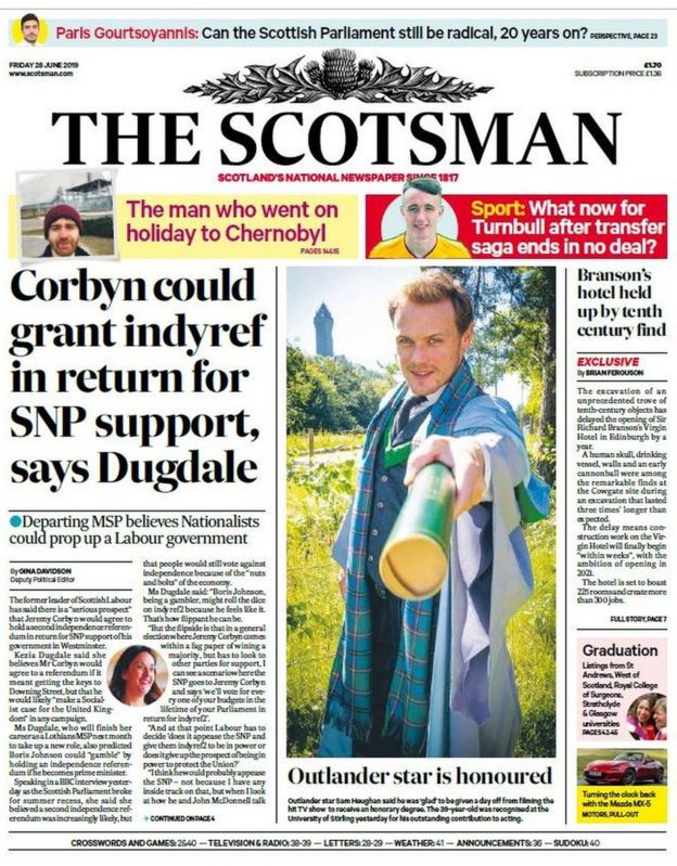 Scotland's papers: Dounreay alert and Leigh Griffiths' depression