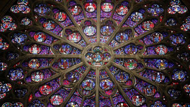 Rosetón en Notre Dame.