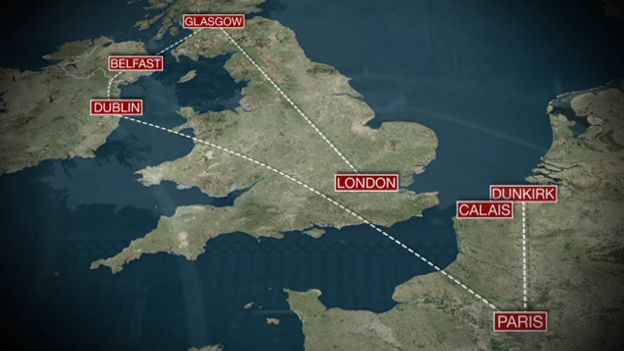 Image Caption The New Route Bypasses Kent Border Checks And London Airports