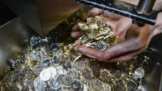 Coins already made at the Royal Mint