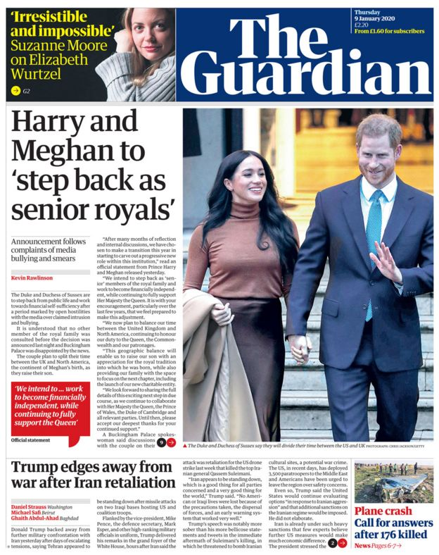 The Guardian baş sayfa