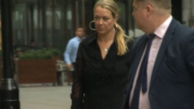 Melissa Cochran arriving at the Westminster attack inquest on 11 September 2018