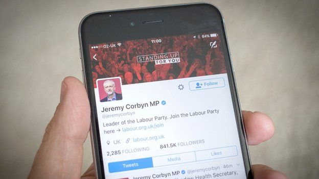 Labour message on mobile phone