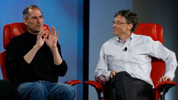 2007年喬布斯和比爾·蓋茨