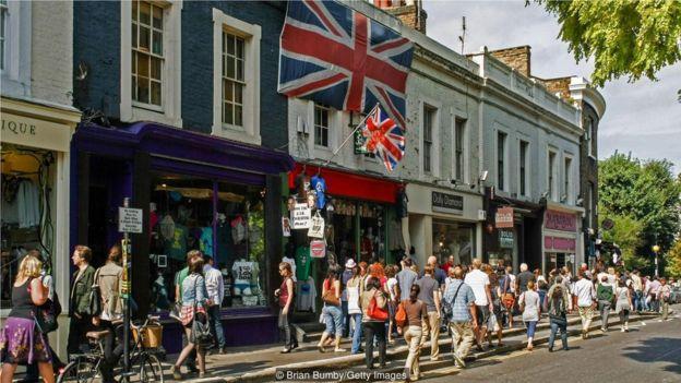 """根據《美國新聞與世界報道》雜誌,英國在""""聲望""""這一標籤上名列前茅。"""