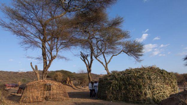 Rural scene in Yabelo Ethiopia