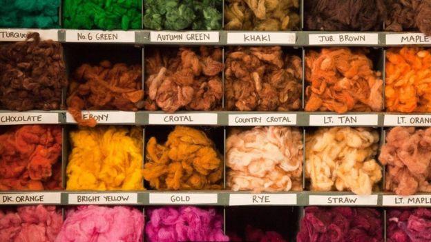 Los distintos colores usados para los tejidos Foto: Harris Tweed Autority